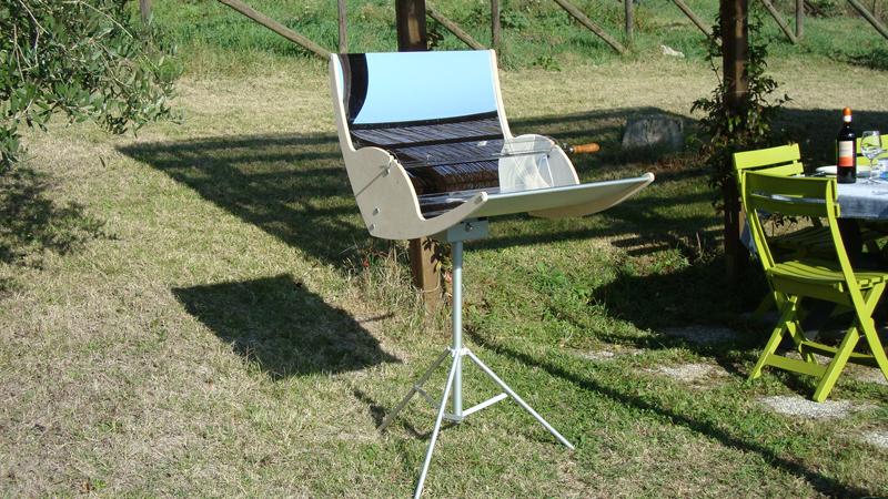 biogri solar barbeque bbq grill sun mirror trente