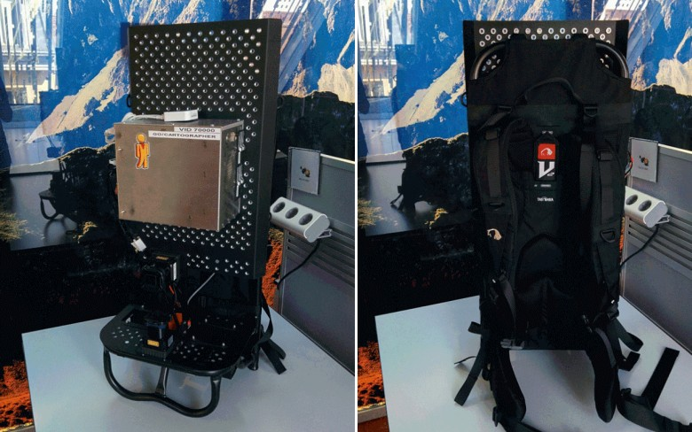 Backpack for indoor mapping with SLAM technology