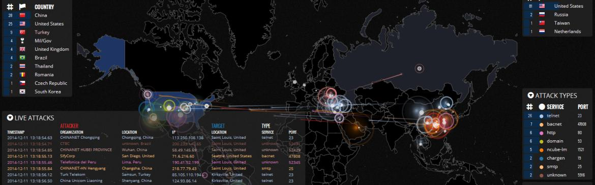 ddos attack map website world