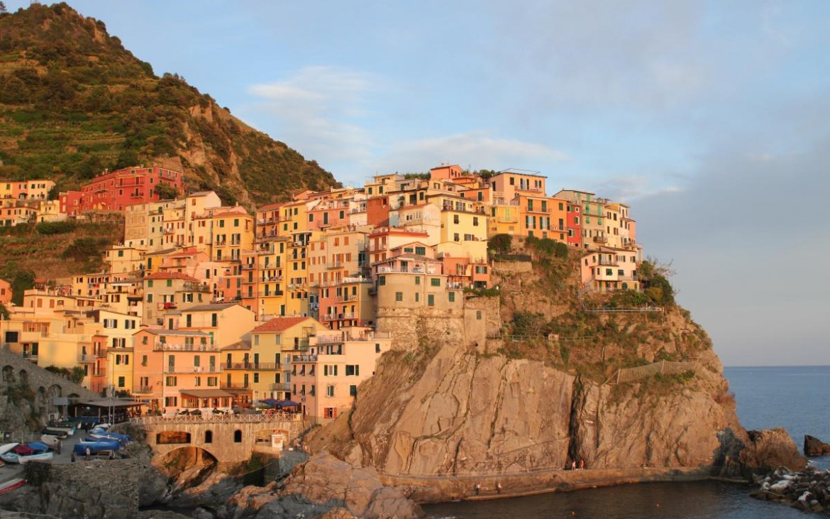 Coloured houses in Manarole Italy