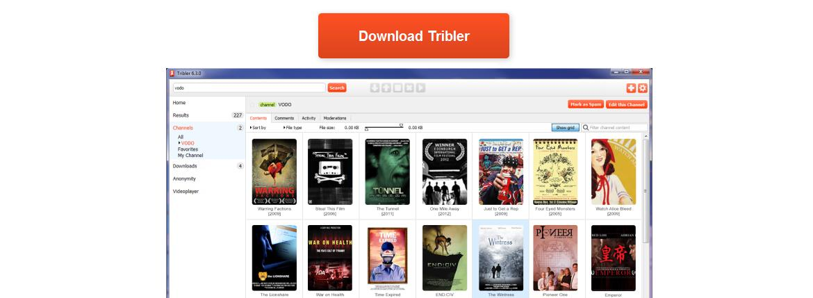 Tribler anonymous torrent download