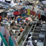 Concrete wash pens in Dhobi Ghat